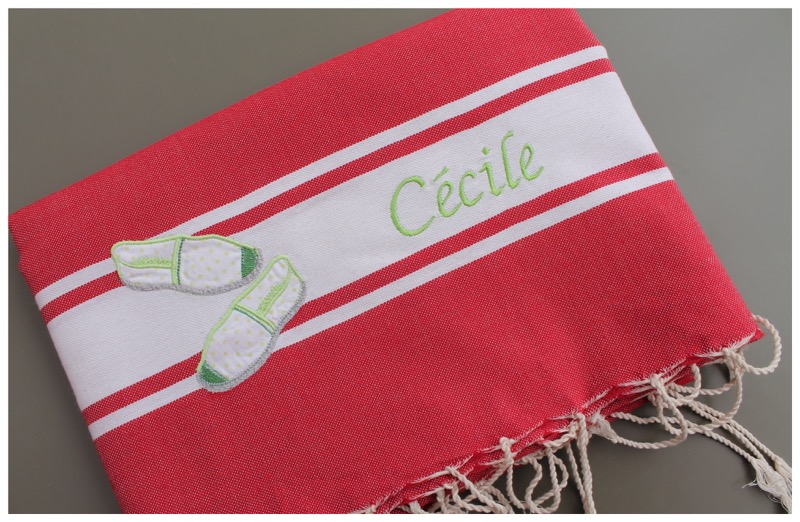 fouta rouge tomate